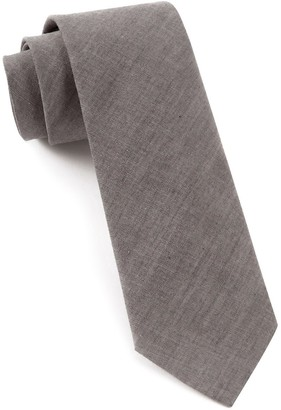 Tie Bar Classic Chambray Soft Grey Tie