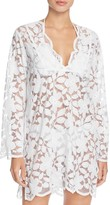 J Valdi Floral Lace Tunic Cover-Up