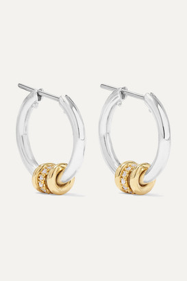 Spinelli Kilcollin Ara Sterling Silver, 18-karat Gold And Diamond Hoop Earrings