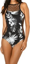Seafolly Tropic Coast High Neck Maillot Swimsuit