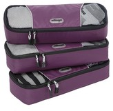 eBags Slim Packing Cubes - 3pc Set (Eggplant)
