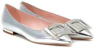 Roger Vivier Gommettine Ball leather ballet flats