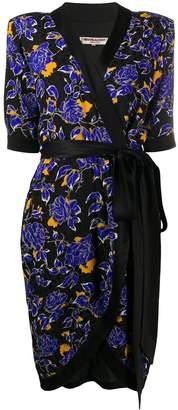 Saint Laurent Pre-Owned 1980s floral print wrap dress