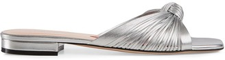 Gucci Metallic leather slide sandal