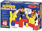 Melissa & Doug Deluxe Jumbo Cardboard Blocks (40 pcs)