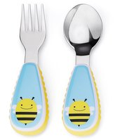 Skip Hop Zootensils Fork and Spoon Utensil Set, Brooklyn