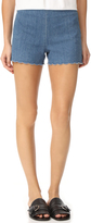 Alice + Olivia Sherri Scalloped Shorts