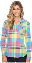 U.S. Polo Assn. Long Sleeve Woven Plaid Shirt