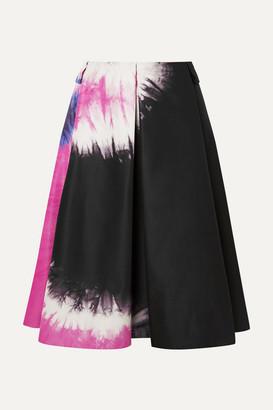 Prada Tie-dyed Duchesse-silk Skirt - Black