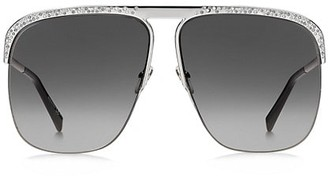 Givenchy 65MM Oversized Square Crystal Sunglasses