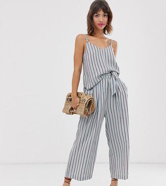 Ichi stripe tie waist trousers co-ord-Multi
