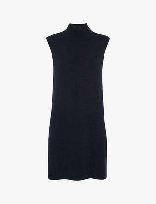 Whistles Sleeveless wool-blend dress