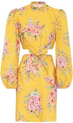 Zimmermann Zinnia floral linen-blend dress