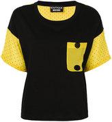 Moschino spotted sleeve T-shirt - women - Silk/Cotton - 40