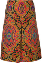 Etro paisley skirt - women - Silk/Viscose/Wool - 42