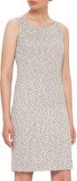 Akris Sleeveless Boucle Sheath Dress, Black/White