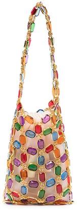 VANINA Crystal Stone Chain Mini Bag