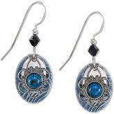 Lapis Silver Forest Earrings, Silver-Tone Stone Filligree Drop Earrings
