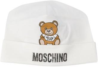 MOSCHINO BAMBINO Teddy Toy logo beanie