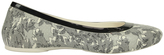 Crocs Lina Shiny Flat Oyster/Black Pump