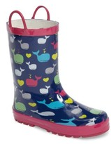 Western Chief Girl's Whales Rain Boot