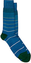 Paul Smith Men's Gradient-Striped Mid-Calf Socks-GREEN
