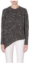 Stella McCartney Asymmetric mixed knit jumper