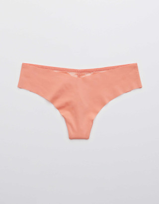 aerie New Blooms Lace No Show Thong Underwear