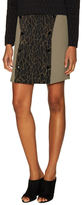 Jonathan Simkhai Caviar Double Button Mini Skirt