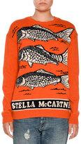Stella McCartney Fish Logo Intarsia Sweater, Orange