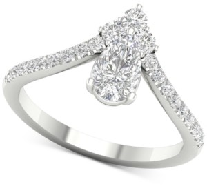 Macy's Diamond Pear Tiara Ring (1 ct. t.w.) in 14k White Gold