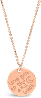 Sterling Forever 14K Rose Gold Vermeil 'Love You to the Moon & Back' Pendant Necklace