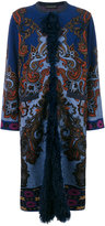 Etro embroidered shearling cardi-coat - women - Acrylic/Polyamide/Polyester/Lamb Fur - 42
