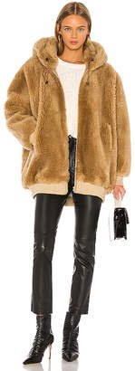 Yves Salomon Meteo Hooded Woven Wool Bomber Jacket
