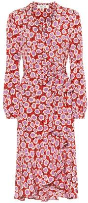 Diane von Furstenberg Carla Two silk midi wrap dress
