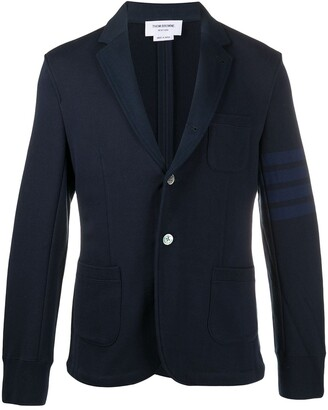 Thom Browne Single-Breasted Cotton Blazer