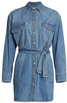 Rag & Bone Full Placket Denim Shirtdress