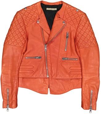 Balenciaga Orange Leather Jackets