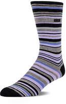 Calvin Klein Barcode Multi Stripe Crew Socks