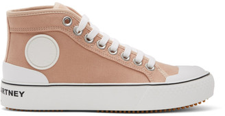 Stella McCartney Pink Canvas High Top Sneakers