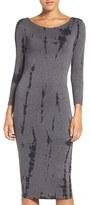Women's Fraiche By J Cutout Back Tie Dye Body-Con Dress
