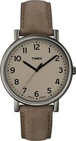 Timex Original Men's Quartz Watch with Brown Dial Analogue Display and Brown Leather Strap T2N957PF