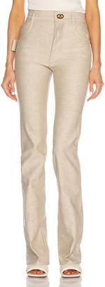 Bottega Veneta Denim High Waisted Pant in Light Biscuit | FWRD
