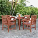 Beachcrest Home Amabel 5 Piece Patio Dining Set