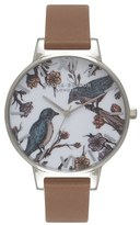 Olivia Burton Women's 'Animal Motif' Leather Strap Watch, 38Mm