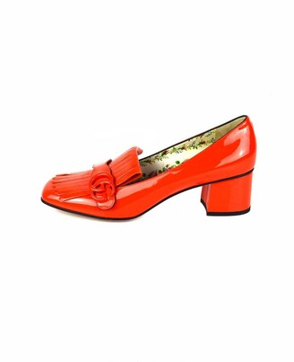 Gucci Marmont Orange Patent leather Heels
