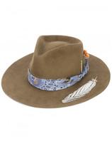 Nick Fouquet Bandido feather applique hat
