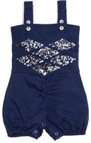 Infant Girl's Masalababy 'Grace' Sequin Embellished Bubble Romper