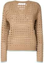 Victoria Beckham felted mesh jumper