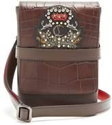 Christian Louboutin Benech small embellished-leather cross-body bag
